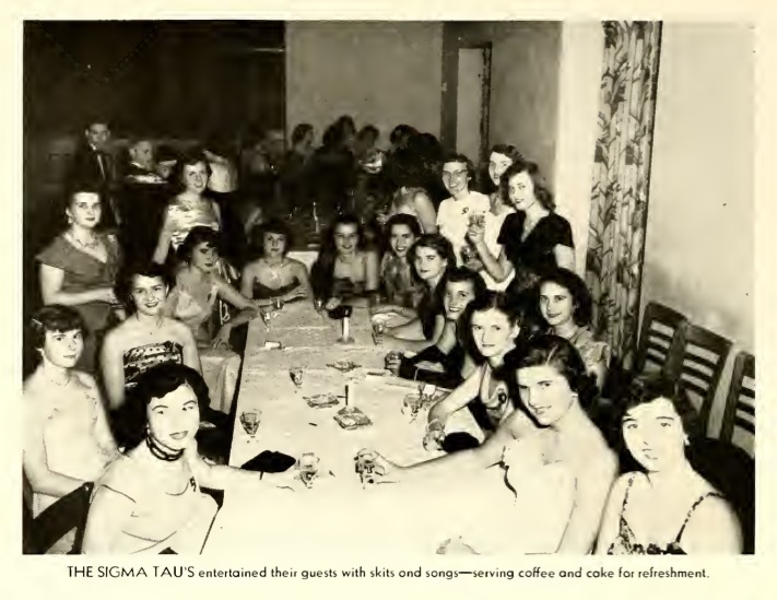 The Sigma Tau's dinner party in 1951