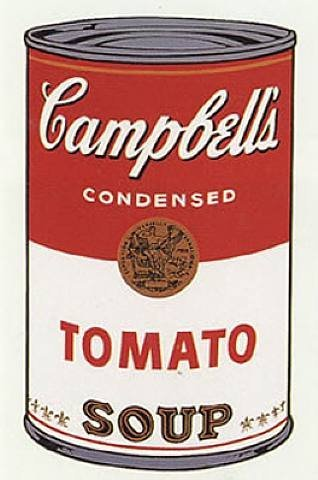 """Cambell's Soup Cans,"" Andy Warhol (1928-1987), Synthetic polymer paint on canvas, 20"" x 16"""