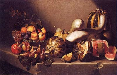 """Still Life with Fruit,"" Caravaggio (1601-1605), Oil on Canvas, 41""x 33"""
