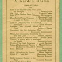 Program for the first play in the Theatre
