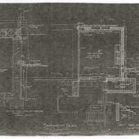 "Reduced copies of Ragdale blueprints, Basement Plan. Photocopy made from 1907 ""Alterations"" building plans."