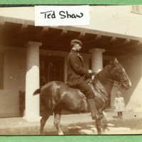 Ted Shaw [Theodore Shaw Jr.] upon a horse