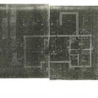 Reduced copies of Ragdale blueprints, Basement Plan. Copies made from 1898 building plans.