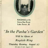 "Invitation for the 1914 production of ""In the Pasha's Garden"""