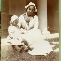 Bessie Shaw and Sylvia posing