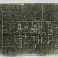 Reduced copies of Ragdale blueprints, Second Floor Plan. Copies made from 1898 building plans.