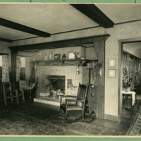 Living Room, Fireplace and West Windows