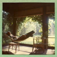 Perhaps Evelyn McCutcheon in hammock