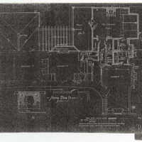 "Reduced copies of Ragdale blueprints, Second Floor Plan. Photocopy made from 1907 ""Alterations"" building plans."