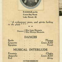 "Program for the July 12th 1916 production of ""A midsummer moon, and spirits lurking in the glade"""