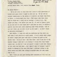 Letter Sylvia Shaw sent her mother from China