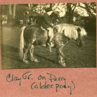 Clay Jr on Perry (a later pony)