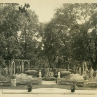 Franklin P. Smith estate, Deerpath, Lake Forest, Illinois--Formal garden south of Great Hall, 1920s.jpg