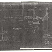 "Reduced copies of Ragdale blueprints, First Floor Plan. Photocopy made from 1907 ""Alterations"" building plans."