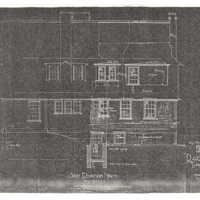 "Reduced copies of Ragdale blueprints, North Side Elevation. Photocopy made from 1907 ""Alterations"" building plans."