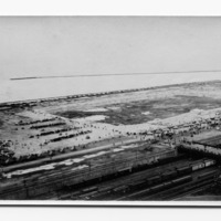Grant Park, aerial view, Illinois Central Railroad Tracks (no. 2)
